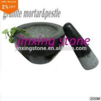 Quality Black Natural Stone Granite Mortar&Pestle wholesale