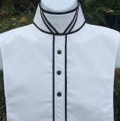 Buy cheap Ready to Ship(70) #RS405DV Solid White with Double V ribbon collar from wholesalers