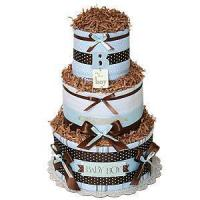 "Best Undecorated Diaper Cakes Simple ""B"" for Boy Diaper Cake wholesale"