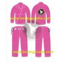 Best BJJ GI PINK BJJ GOLD WEAVE UNIFORM wholesale