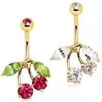 Best Gold Plated Cherry Belly Button Navel Ring wholesale