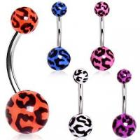 Best UV Acrylic Leopard Print Belly Button Navel Ring wholesale