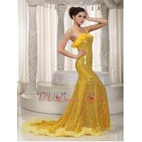 China Golden Mermaid Floor Length Sequin Evening And Prom Dresses UK Luxury on sale