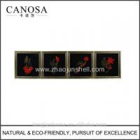 Best CANOSA seashell chinese design Wall Picture with wood frame wholesale