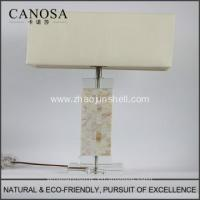 Best High Quality low price chinese seashell table lamps with crystal pedestal wholesale