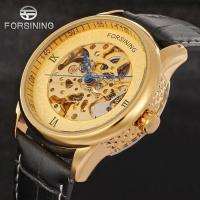 China Import China Good Skeleton Automatic Mechanical Watches With Leather Material mens watches on sale