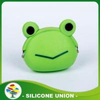 Best Eco-friendly Green Frog Silicone Animal Coin Purse wholesale