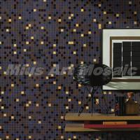 Best Brown grey beige recycled glass mosaic tile MR008 wholesale