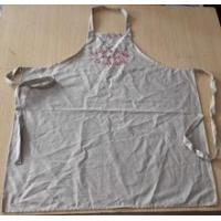 Best Apron high quality wedding/customized 100% cotton vintage apron in beige color with embroidery wholesale