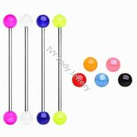 Buy cheap Glow In The Dark Acrylic Ball Industrial Ear Bar from wholesalers