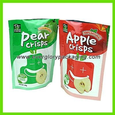 details of colorful stand up plastic food grade bags