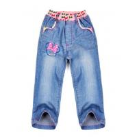 Best Stretchable waistband washed cotton stretch caprijeans of professional manufacturer forgirl wholesale