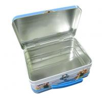 Tin Lunch Box USA Long Rectangular Lunch Tin Box for Sales with Handle and Lock