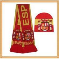 China 2015 fashion scarf popular jacquard knitting scarf and hat on sale