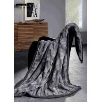 China Bed In A Bag Faux Fur Gray Mink Blanket Throw on sale