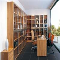 Best living room modern lacquered solid office bookcase with desk wholesale