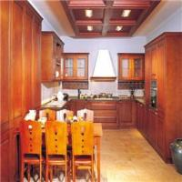 Best kitchen Traditional Customized Red Oak Wood Kitchen Cabinet wholesale