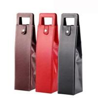 1 bottle recyclable PU leather wine bag Guangzhou