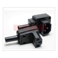 Best Prouducts IEC 320 C13 C14 90 degrees male and female electrical connector wholesale