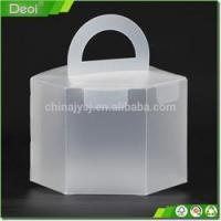 Quality Clear plastic food packing box for cake small clear folding Customized wholesale