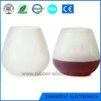 China High Quality /Eco-friendly Wholesale Silicone Wine Glass With Custom Design on sale