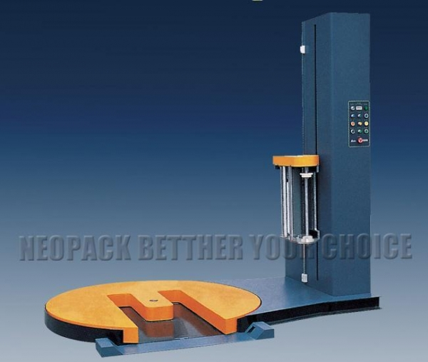 China M Type Turntable Pre-stretch Pallet Wrapping Machine