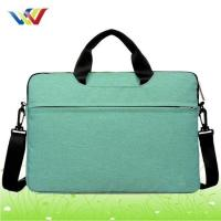 Best Laptop Bag Light green 15 inch laptop bag with black shoulder strap wholesale