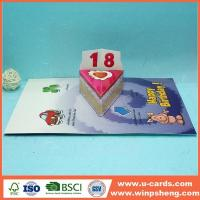 China Die Cut Handmade Birthday Pop Up Cards on sale