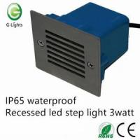 Best IP65 waterproof recessed led step light 3watt wholesale