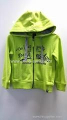 China 80%cotton 20%polyester cardigan hoody jacket