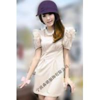 Buy cheap OL Style PU Piped Empire Waist Dress from wholesalers
