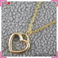 China Simple imitation gold chain necklace, imitation gold heart pendant necklace designs for wedding on sale