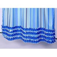 Best Colorful Ruffle Bathroom Shower Curtains Waterproof Thickening 100% Polyester wholesale
