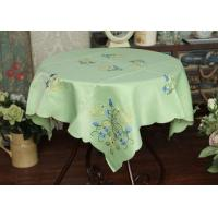 Pretty Square Decorative Table Cloths Multiple Colors Custom Embroidered Tablecloths