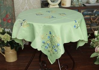 Cheap Pretty Square Decorative Table Cloths Multiple Colors Custom Embroidered Tablecloths for sale