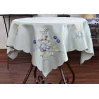 Best Multiple Colors Dining Table Cloth , Chemical Fiber Embroidery Table Cloth wholesale