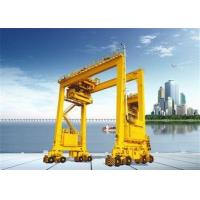 Double Girder Rubber Tyred Port Gantry Crane For Unloading Containers