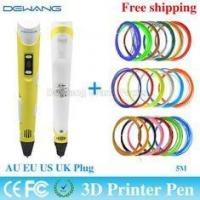 China Yellow handheld 3d printer pen with 0.4mm - 0.7 mm Nozzle Diameter on sale