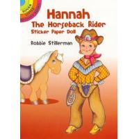 China Dover Hannah The Horseback Rider Sticker Paper Doll Book on sale