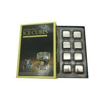 Quality FDA Stainless Steel Whiskey Stone Cubes Engraved Ball and Stone Granite with Glass for Drink wholesale