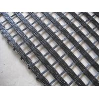 China PET Weft and Warp Knitting Woven Geotextile Geogrid with Soil Stabilization on sale