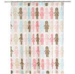 China Shower curtain-Paper dolls 182x182cm on sale