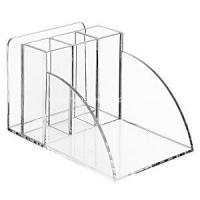 China Acrylic Desktop Office Organizer with Pencil Slots on sale
