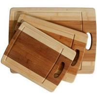 Quality 3-Piece Organic Bamboo Cutting Board Set With Drip Groove wholesale