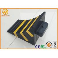 Best Recycled Rubber Truck Vehicle Wheel Stops Chock for Parking Lock / Hotel / Garage wholesale