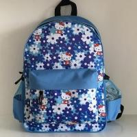 Buy cheap Blue Hello Kitty And Flowers Printed Schoolbag from wholesalers