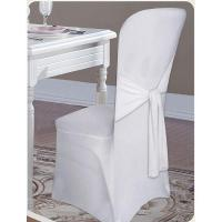 Cheap Plain Cotton Solid Or Printed Chair Cover With Tie Back for sale