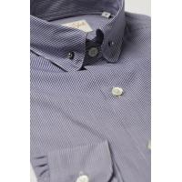 Best Pin Collar Shirt Navy Check wholesale