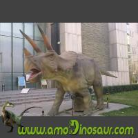 China Exhibition dinosaur model movement dinosaur prop triceratops on sale