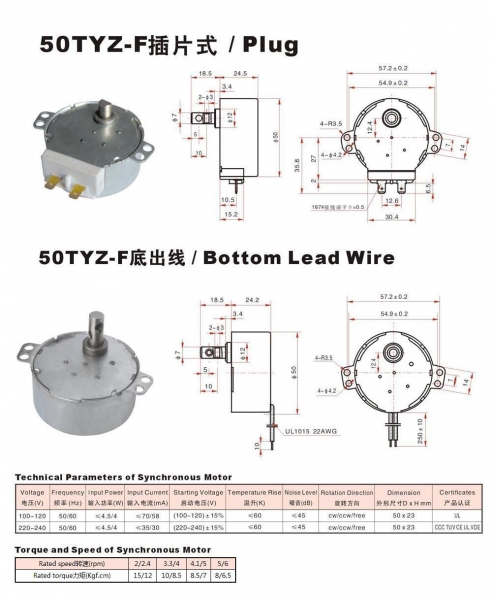 Details Of Synchronous Motor 50tyz F 50418874